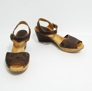 Pikolinos Brown Comfort Leather Sandals 40